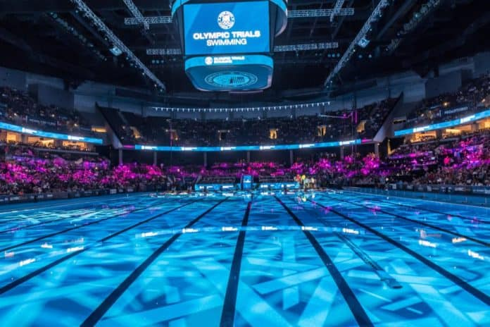 Precaution-First-For-The-Olympic-Swimming-Trials